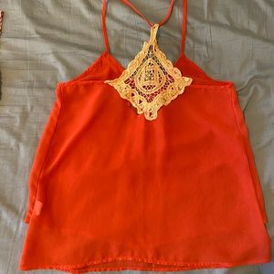 Coral blouse/halter tank